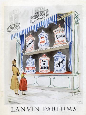 lanvin parfümök vintage
