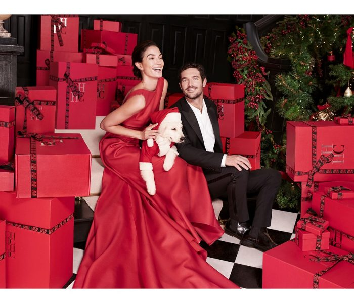 Karácsony Carolina Herrera módra