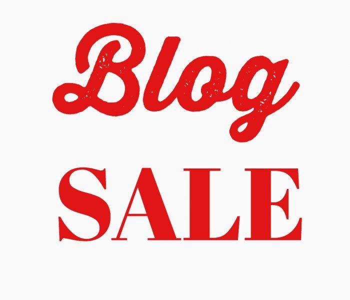 Blog sale!
