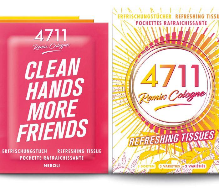 4711 Remix frisítőkendők